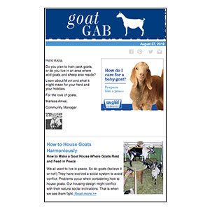 Goat Gab E-newsletter